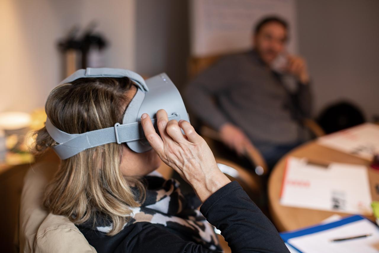 Testlauf RemmyVR App (VR Brille für Senioren)